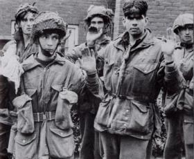 Prisoners of the 1st Parachute Squadron and 3rd Parachute Battalion captured at Arnhem, 1944.