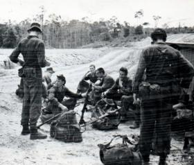 Pick up point after pre training, Borneo, 1965.