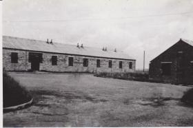 Piddlehinton Camp 1946, Sgt's Mess, Quarters, Ante Room on right