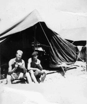 Ptes Jim Pidgeon and Chris Chapman, 1 PARA, at Whittington Camp Nicosia Cyprus 1958.