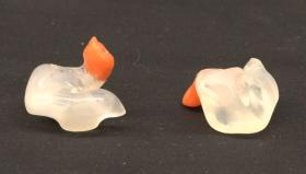 Personalised Interfaced Hearing Protection (PIHP) ear plugs from the Airborne Assault Museum Collection, Duxford.