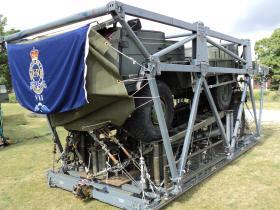 A Pinzgauer TUM (HD) of 7 PARA RHA on a Medium Stress Platform for parachuting, Colchester, 2010.