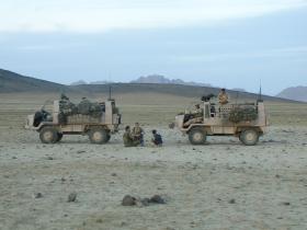 Pathfinder Pinzgauer vehicles, Nowzad, Afghanistan, Op Herrick IV, 2006.