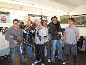 Parachute Training School members visit the Airborne Assault archive, Duxford, 2011