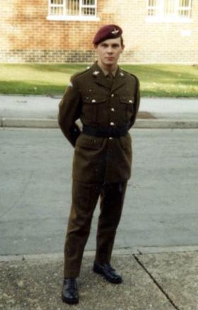 Prosper Keating, Guards Depot, Pirbright, late 1984.