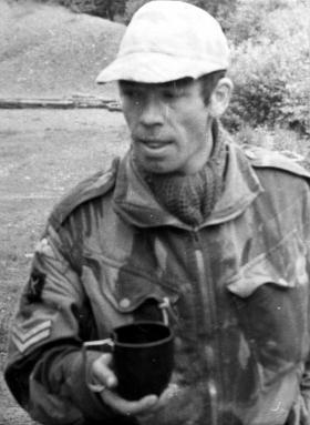 Cpl Keddie, 1 Coy, 10 PARA, Annual Camp at Vogelsang, Germany, 1977.