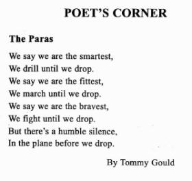 Poem 'The Paras' by Tom Gould.