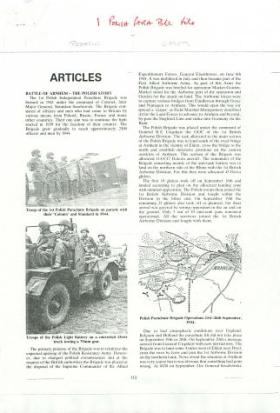 Article telling the Polish story of the Battle of Arnhem.