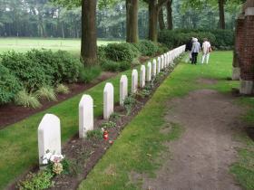 Row of Headstones of fallen Polish Soldiers, Oosterbeek War Cemetery, Arnhem