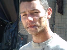 Portrait of Jason Rawstron, Afghanistan, 2008