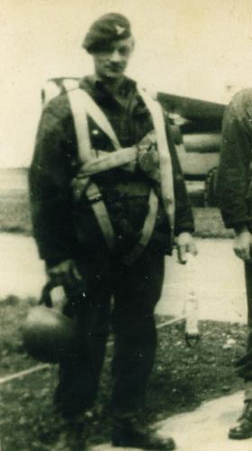 Jim Tydeman, of 289 Para Regt RHA at North Weald, 1960s