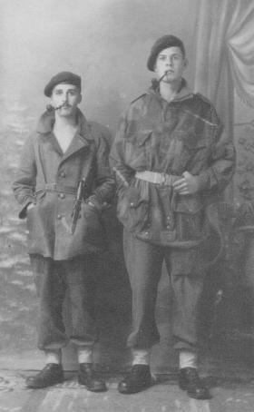 Portrait of Ronald Booth and pal Raif Duguid, Italy, c.1943