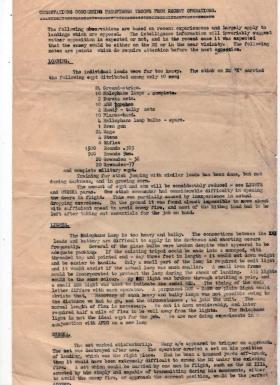 Post Op Report By Capt Midwood on Pathfinders Troop's drop onto Drop Zone K, Normandy, October 1944.
