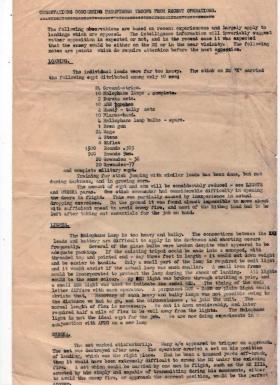 Post Op Report By Capt Midwood on Pathfinders Troop's drop onto Drop Zone K, Normandy, October 1944.