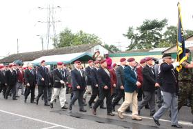 PRA March Past, Airborne Forces Day, Eden Camp, 2010