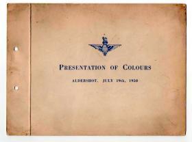 Photo Album: Presentation of The Parachute Regiment's first Colours, Aldershot 19 July 1950.