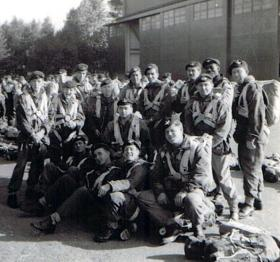 Members of 10 PARA (TA), waiting to emplane, date unknown.