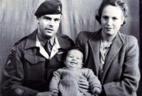 Stanley and Eleanor Aylward with their first child David, date unknown.