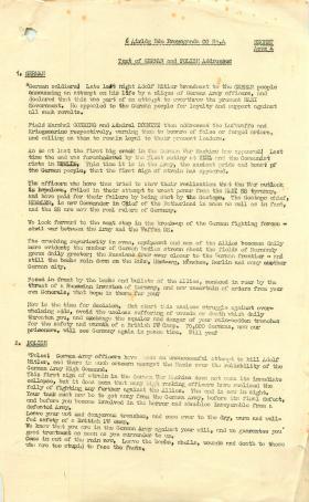 Text of German and Polish propaganda addresses.