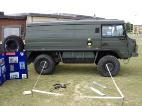 A Pinzgauer TUM (HD) in service with 156 Provost Company, Colchester, 2010.