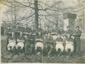 George Moodie with the PCAU football team