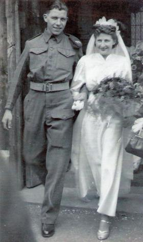 Private and Mrs Watson, 1944.