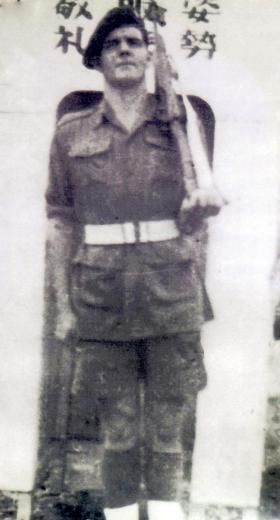 Pte Harry Meckin MM, 7th Para Bn, Singapore 1945.