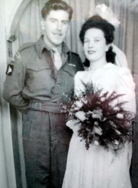 Private Elijah Hope on his wedding day, date unknown.