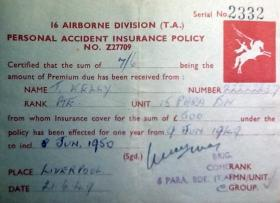 Pte Kelly's Insurance Policy, 1949.
