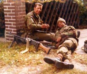 Two members of 10 PARA, Germany, date unknown.