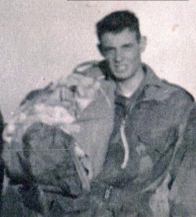 Pte Newhouse, 12th/13th (Yorks and Lancs) Battalion The Parachute Regiment (TA), c1957.