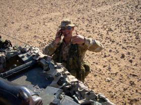Pte Phillipson, Saudi Border, Iraq, 2005.