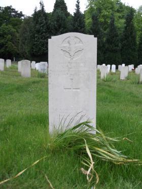 Headstone of Pte Terence Brett, Aldershot Military Cemetery, June 2013.