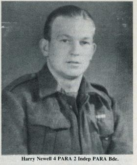 Pte Harry Newell 4th Para Bn c1944