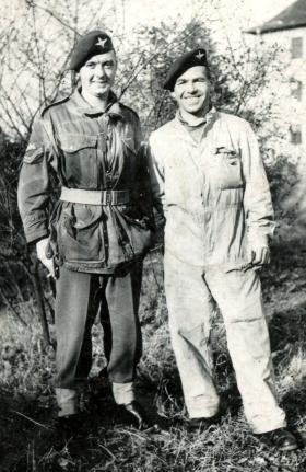 Cpl J R Logan with a friend, date unknown.
