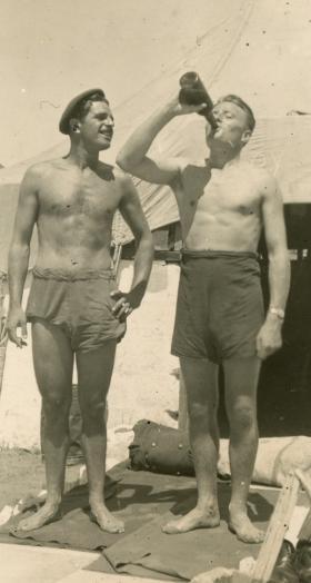 Cpl J R Logan, Palestine 1946.