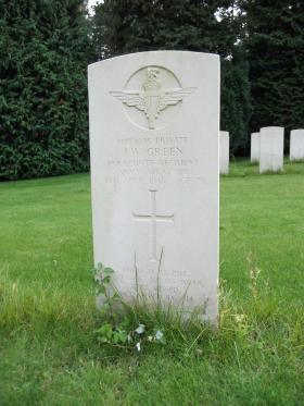 Pte JW Green, Becklingen War Cemetery, August 2011.