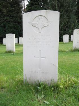 Pte LEW Kewley, Becklingen War Cemetery, August 2011.