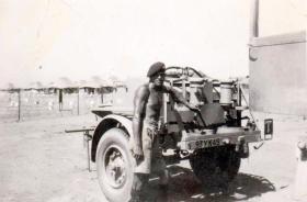 Private L Trewin in Palestine, 1945.