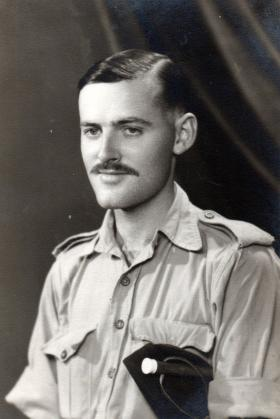 Pte Clarke in the Middle East, 1942.