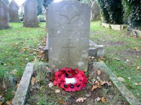 The grave of Pte Peter Grundy, Ryde Old Parish Cemetery, Isle of Wight, date unknown.