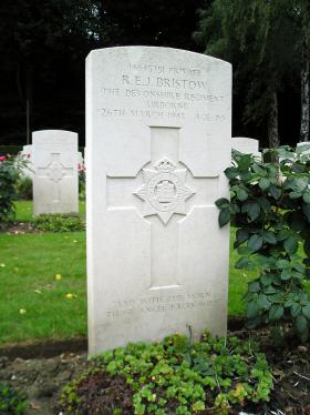 Grave of Pte Ronald Bristow, Reichswald Forest War Cemetery, Germany, 2010.