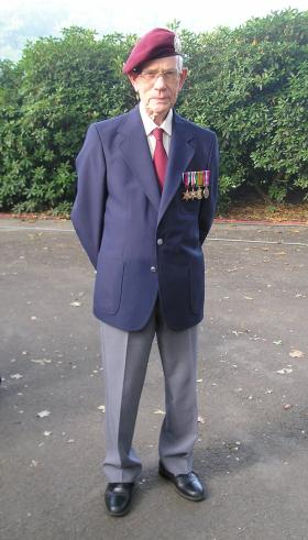 Pte V. P. Clarke. A-Coy. 7th Battalion, King's Own Scottish Borderers.