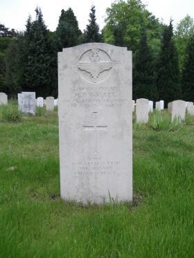 Headstone of Pte Michael Walker, Aldershot Military Cemetery, June 2013.