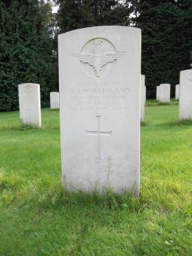 Headstone of Pte WJ Powlesland, Becklingen War Cemetery, August 2011.