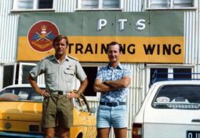 Lt Col Alan Batchelor and Major Craig Leggett 2iC PTS Australia,  1981.