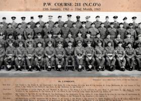 Cpl Parry, PW Course 211 (NCOs), 1963.