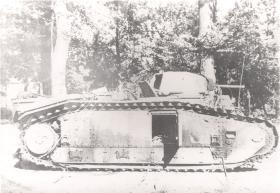 Knocked Out German Pzkpfw 740 B2(F), Arnhem, 1944