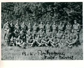 Group photo of those who won medals at Normandy with Montgomery. 1/9/1944.