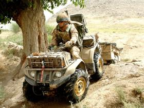 A Quad ATV on operations, Afghanistan, 2008.